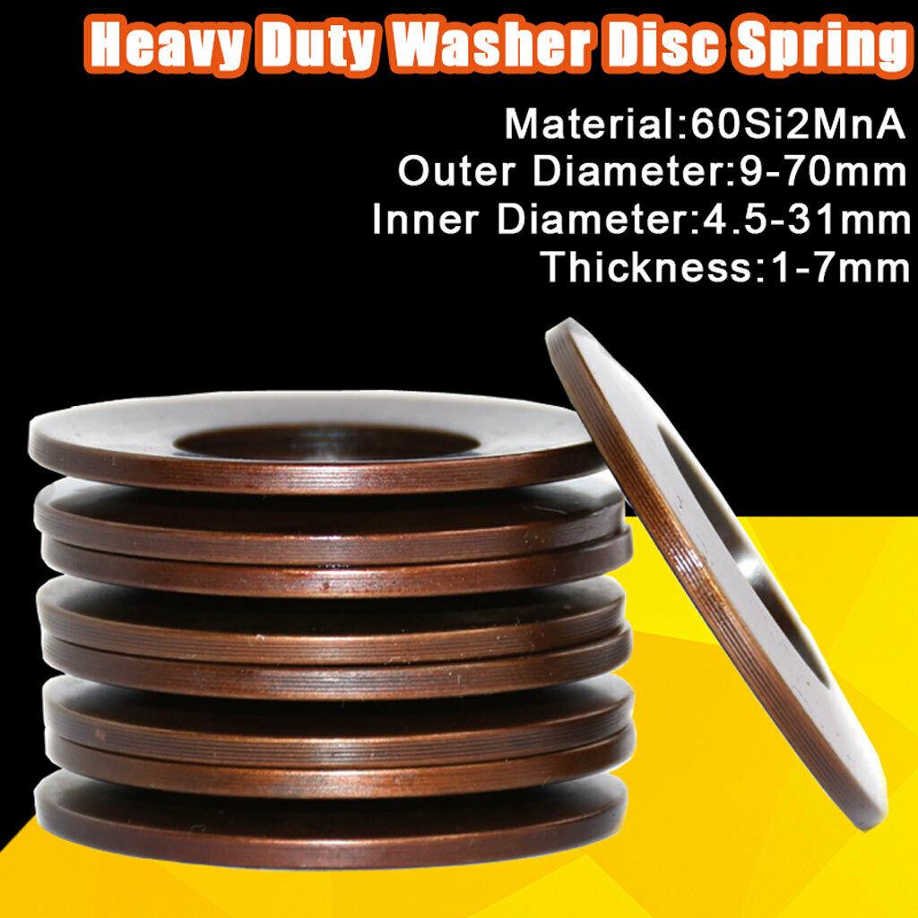 Belleville Compression Spring Gasket Heavy Duty Washer Disc Spring All Sizes