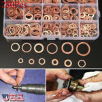 280Pcs/Kit Solid Copper Crush Washers Seal Sealing Flat O-Ring Gaskets Assorted