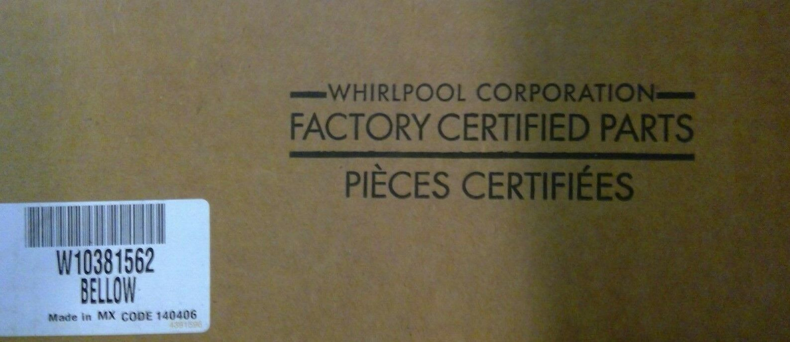 New OEM Whirlpool Washer Door Boot Seal W10381562 WPW10381562