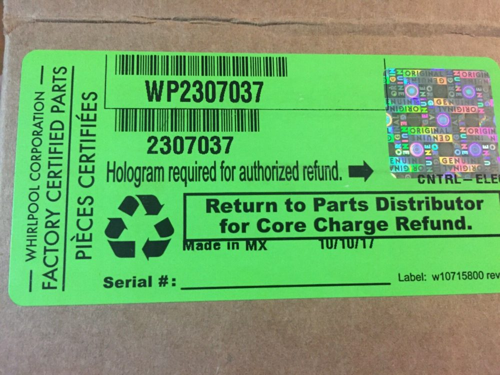 Whirlpool Refrigeration 2307037 / WP2307037
