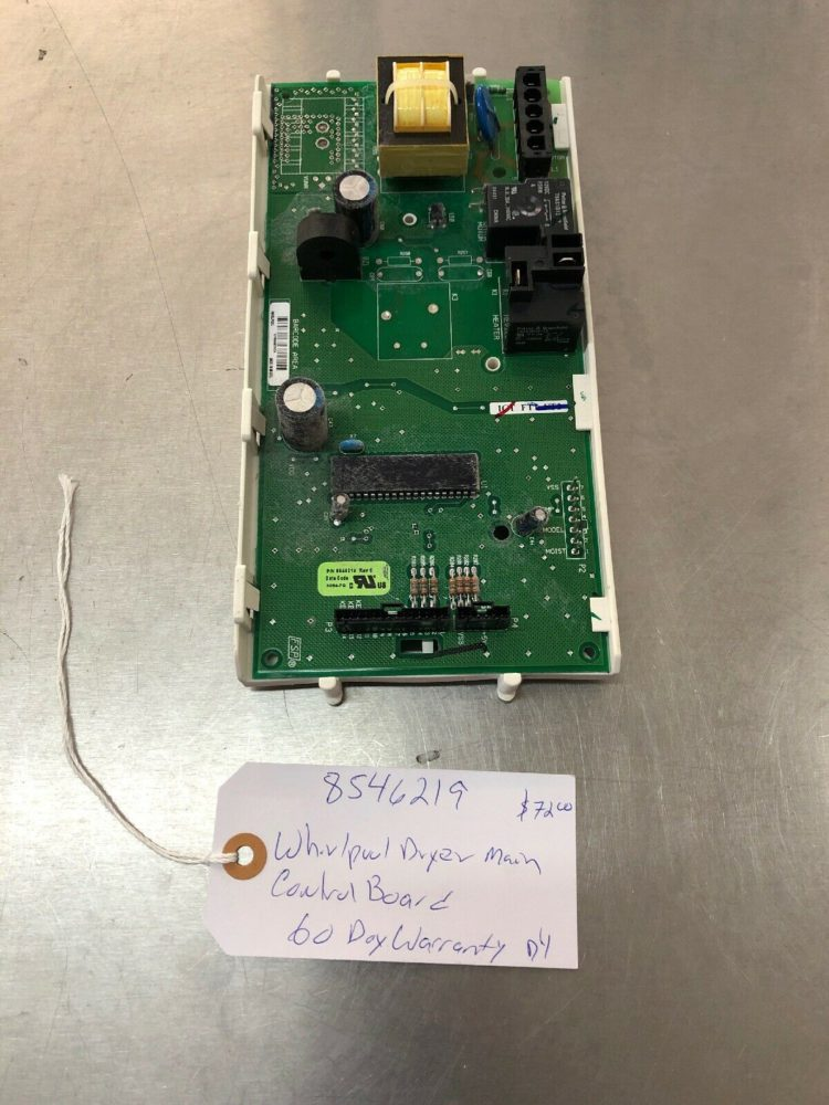 8546219 Whirlpool Dryer Main Control Board. 60 Day Warranty