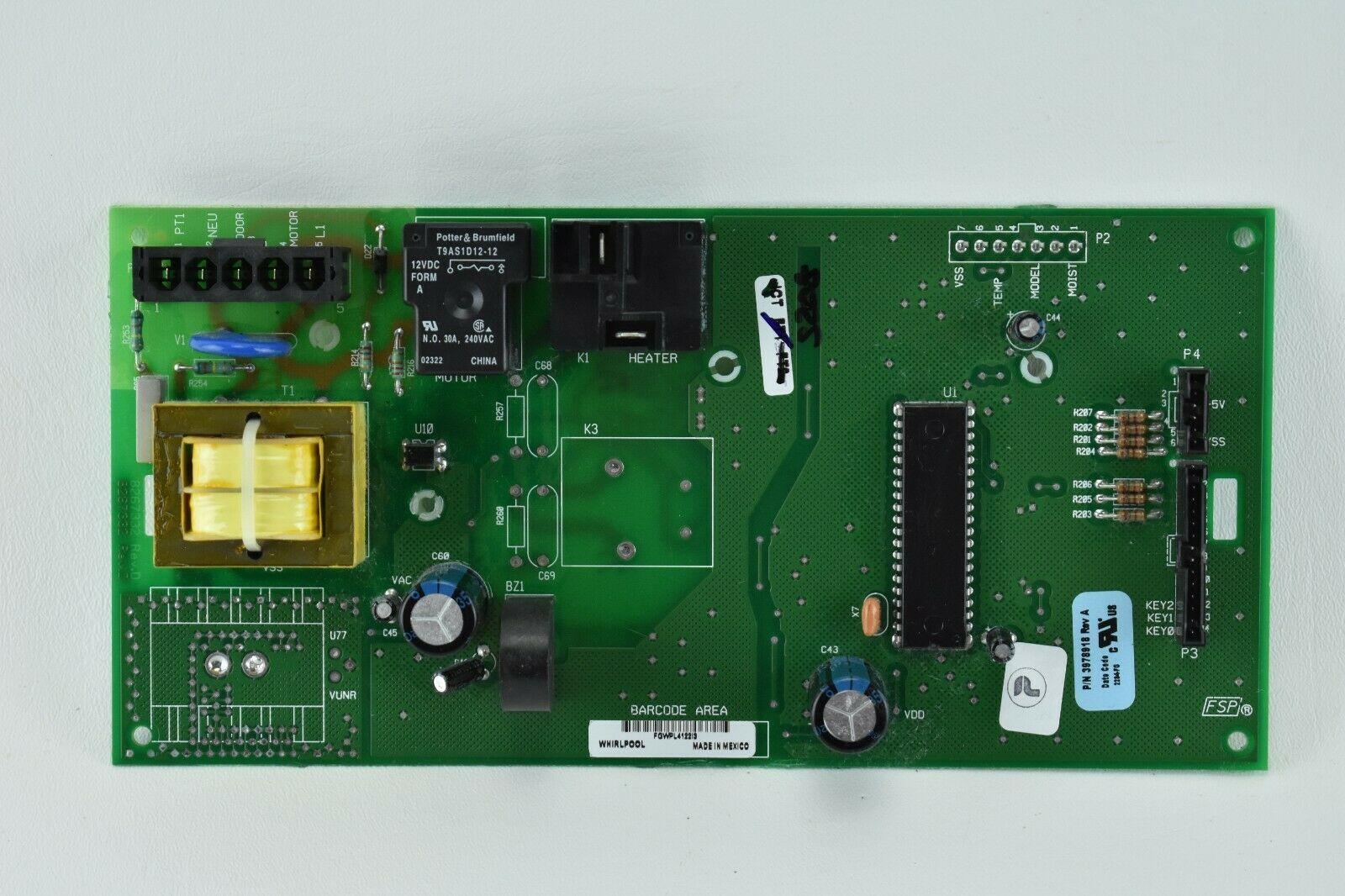 Genuine WHIRLPOOL Dryer, Control Board # 3978918