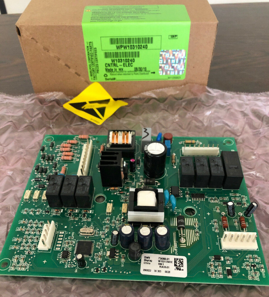 W10310240 Whirlpool Refrigerator Main Control Board - Not Working (For Parts)