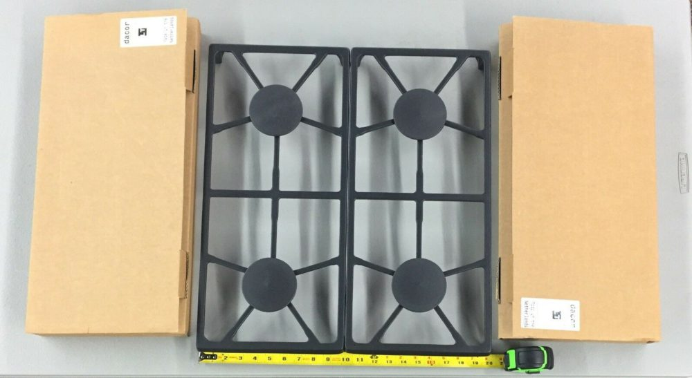 Brand New in Box 2- Dacor 72433SB Cast Iron Grate Sets with 4 Burner Caps!!