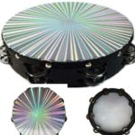 """8"""" 3D Tambourine Music Double Row Jingle Percussion Instrument Church"""