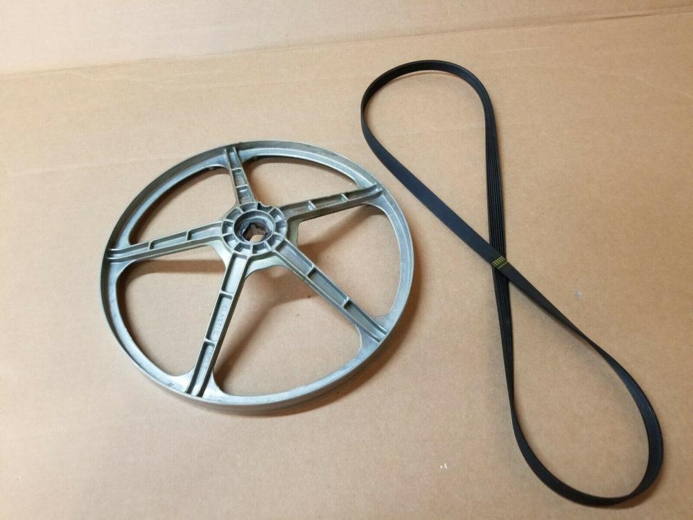 Kenmore Elite HE3 model 110.45862402 Drive Pulley WP8182650 w/belt WPW10388414