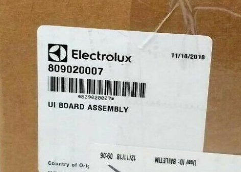 Electrolux Washing Machine Control Board 809020007 for Front-Load Washer EIFLS60JIW0 EIFLS60JIW1