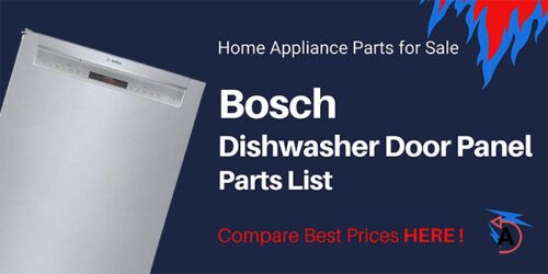 Bosch Dishwasher Door Panel Parts List for SHP65T55UC/01 SHX5AV55UC/01 SHX3AR56UC/18 SHP65T56UC/02